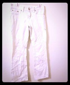 Seven7 jeans white size 10 flare EUC